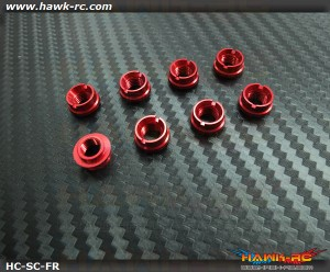 Hawk TX Switch Cap Red (Fringe Bottom, JR, Spektrum)